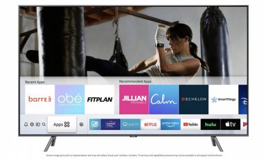 三星智能电视将获得六种新的家用健身应用