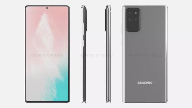 三星Galaxy Note 20渲染图显示了巨大的平板手机