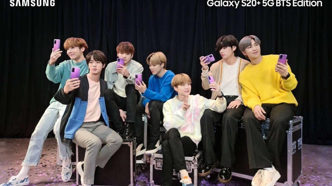 三星紫色Galaxy S20 +和Galaxy Buds +为BTS粉丝推出