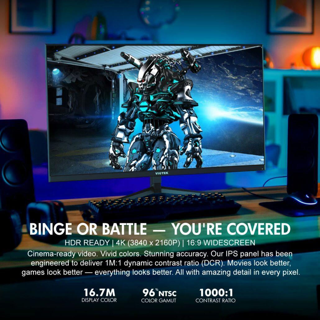 Viotek宣布推出GFI27QXA – 27英寸,4K UHD显示器和144Hz HDR就绪显示器