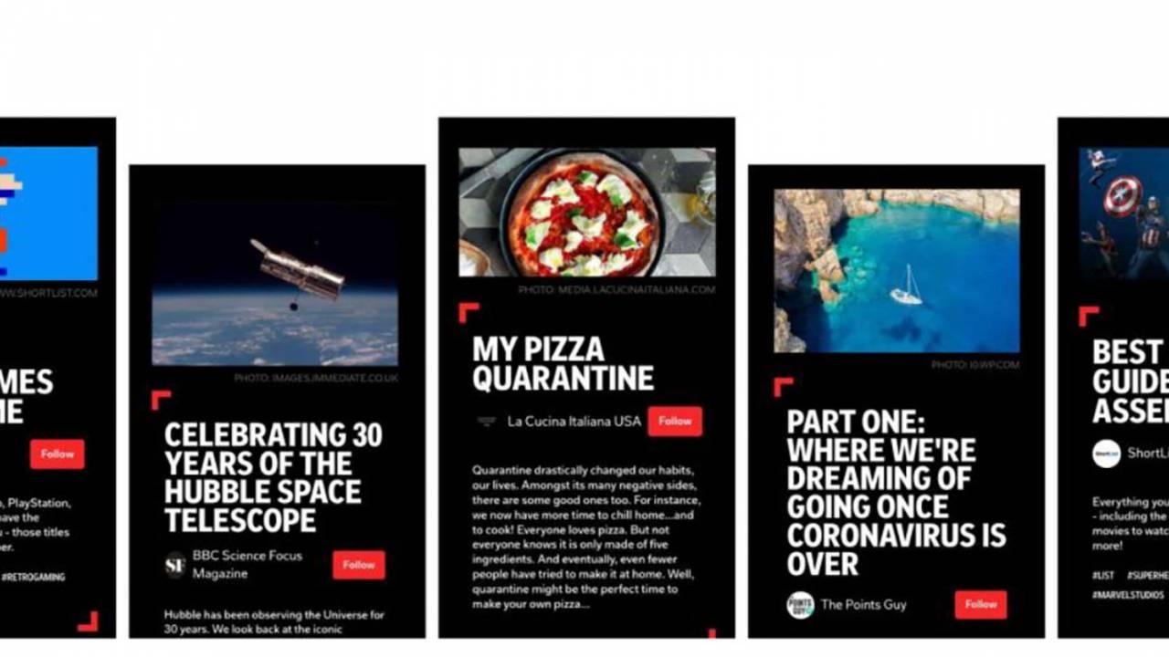 Flipboard Storyboard推出了精选的文章,推文和音频