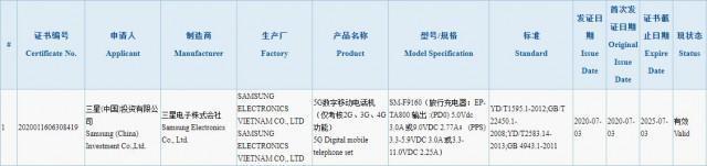 3C显示,三星Galaxy Fold 2具有25W快速充电