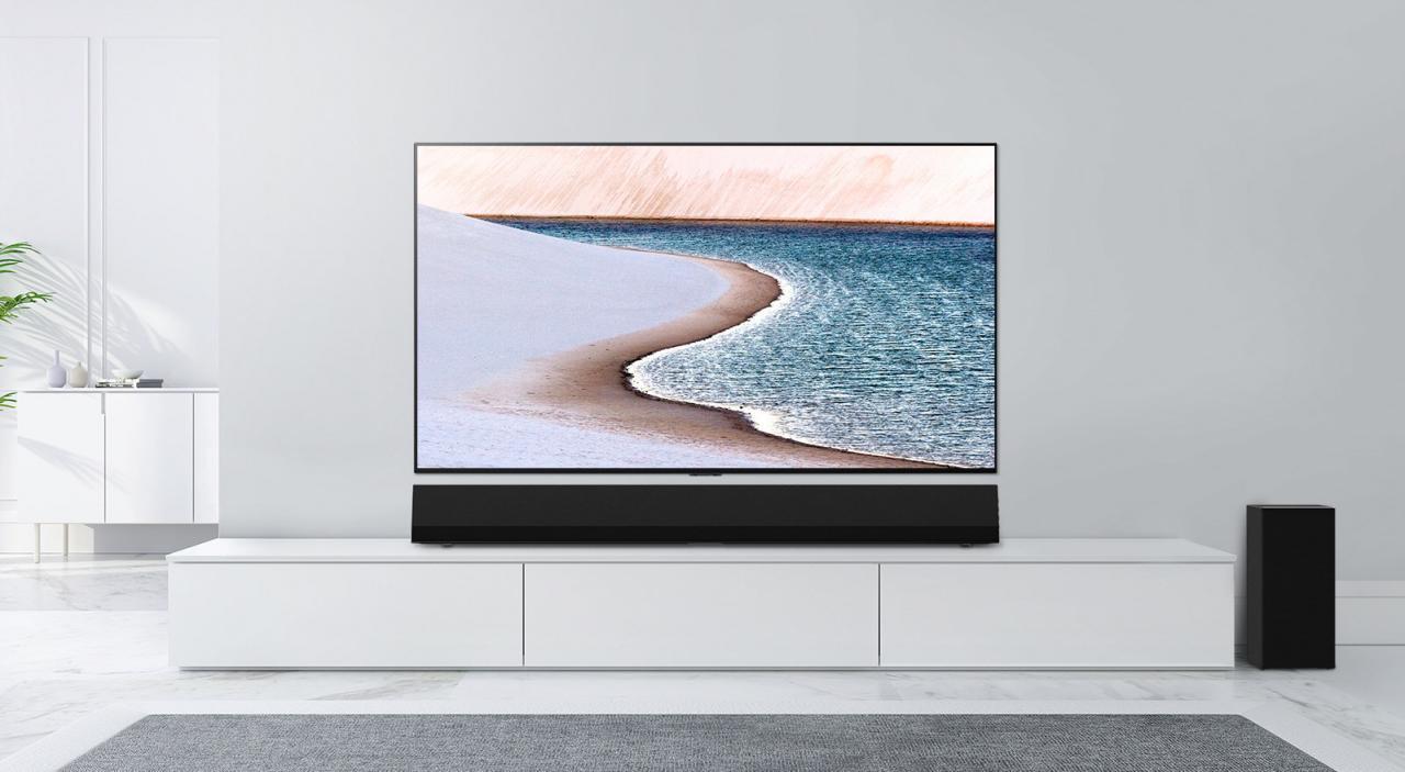 """LG推出其最新的条形音箱,作为GX Gallery系列OLED电视的""""完美伴侣"""""""