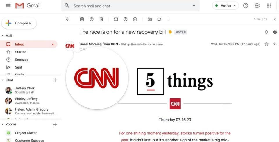 Gmail即将开始测试电子邮件类似验证的徽标