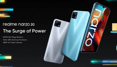 Realme Narzo 20系列手机配备65W SuperDart充电功能
