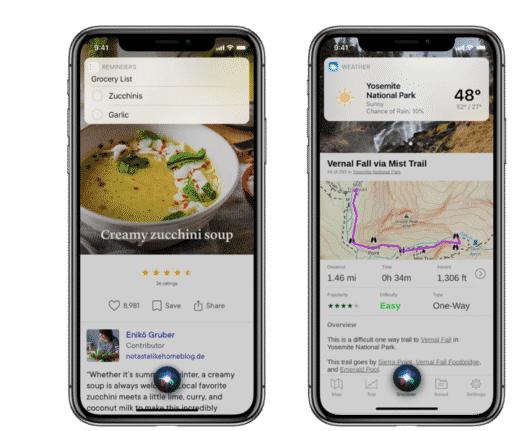 苹果iOS 14 Siri的全新紧凑型设计