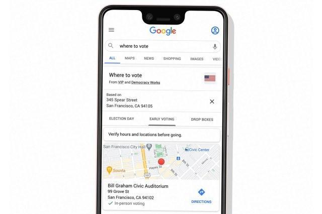 Google搜索现在可以显示在哪里投票或放弃选票