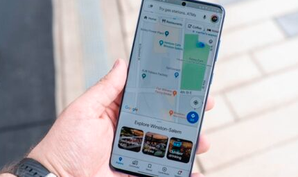 Google地图会及时显示聚集的位置