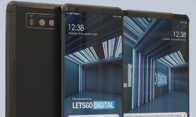 这是LG推出的可卷曲智能手机的项目