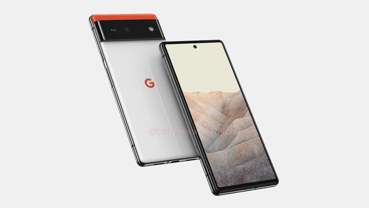 Google Pixel 6设计的渲染器揭示了双摄像头、平板显示器等