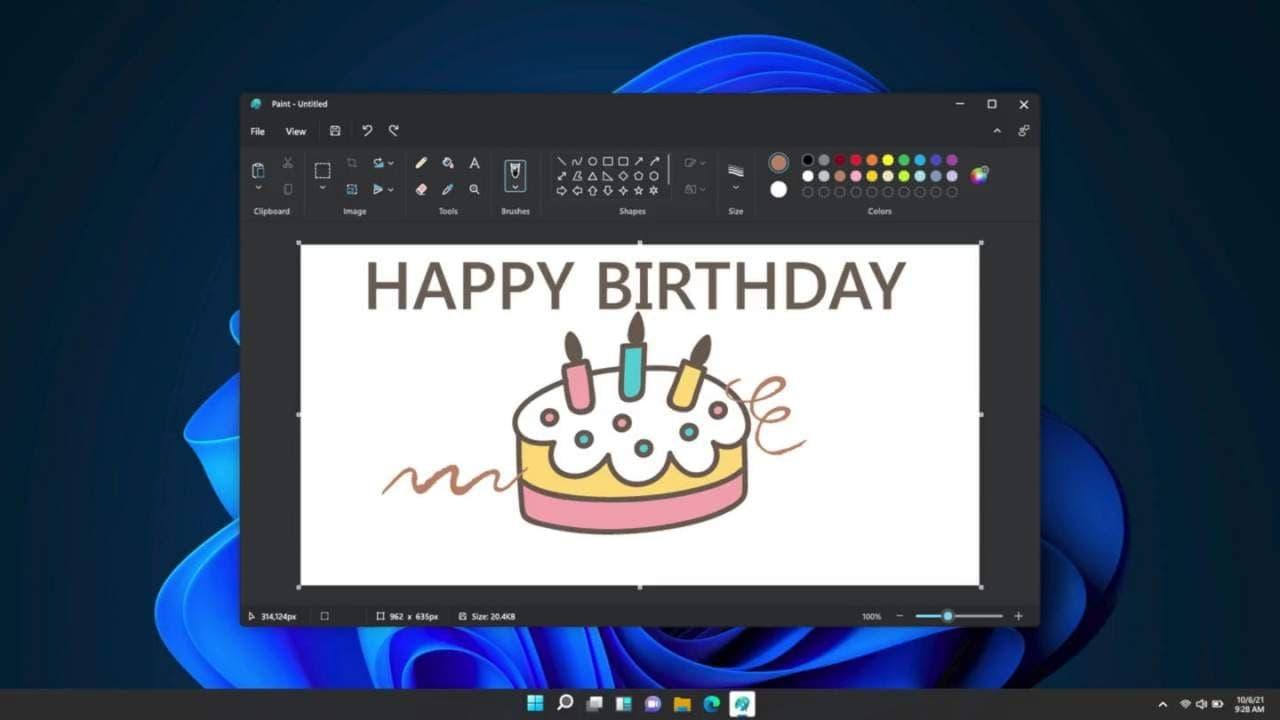 Windows 11 的 Microsoft Paint 应用程序得到了一个姗姗来迟的重新设计