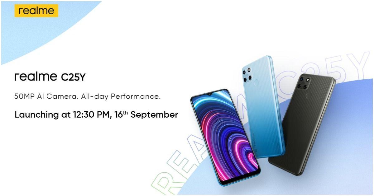 Realme C25Y 将于 9 月 16 日在印度推出