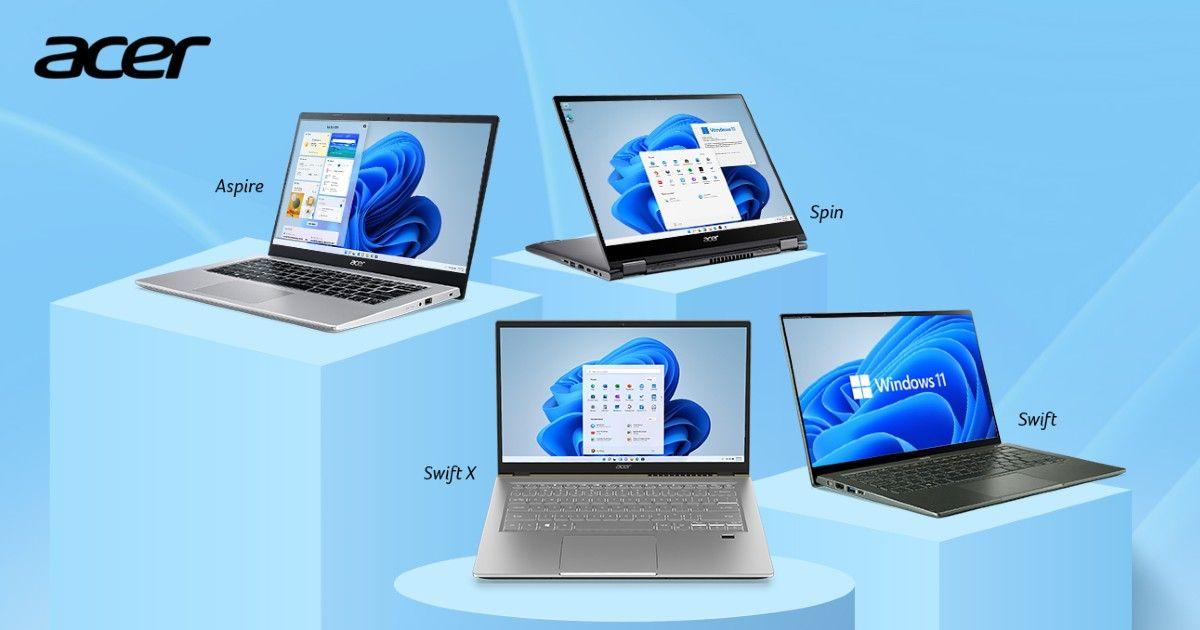 宏碁 Swift X、Swift 3 和另外四款搭载 Windows 11 的机型在印度推出