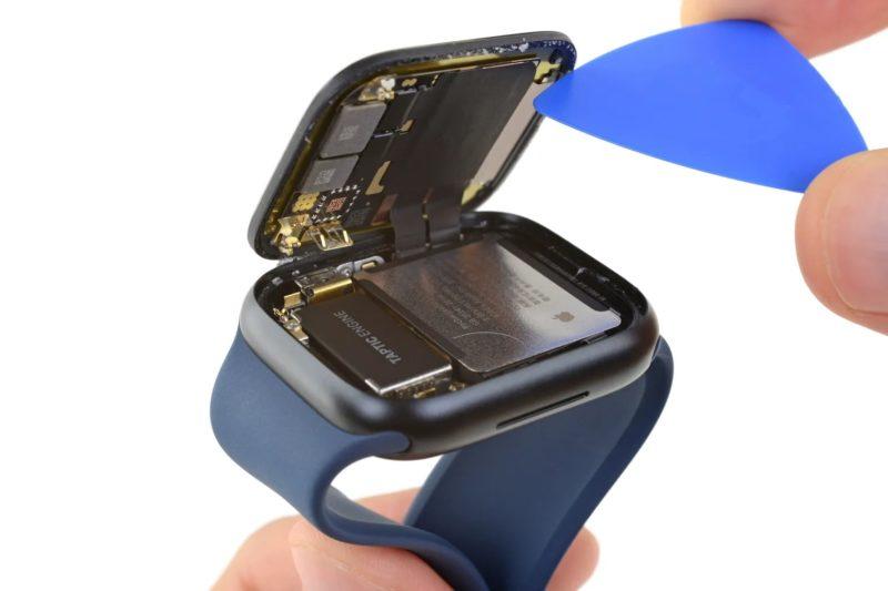 Apple Watch Series 7 拆解显示电池尺寸更大,边框更小
